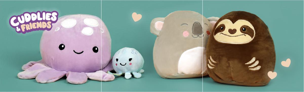 Plyšové polštáře Cuddlies