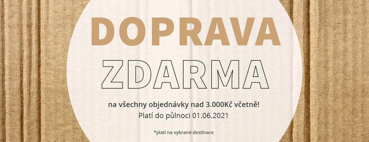 DOPRAVA DO ČECH A NA SLOVENSKO ZDARMA!